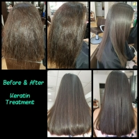 Before & After Keratin